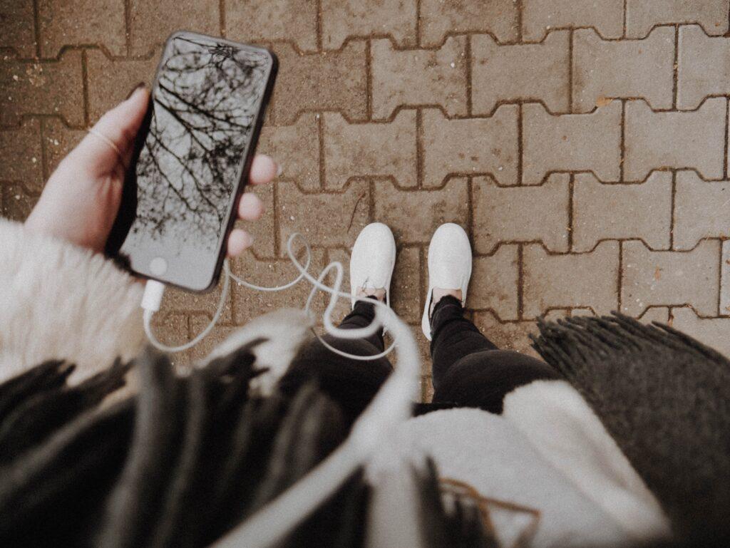 smartphone y tenis